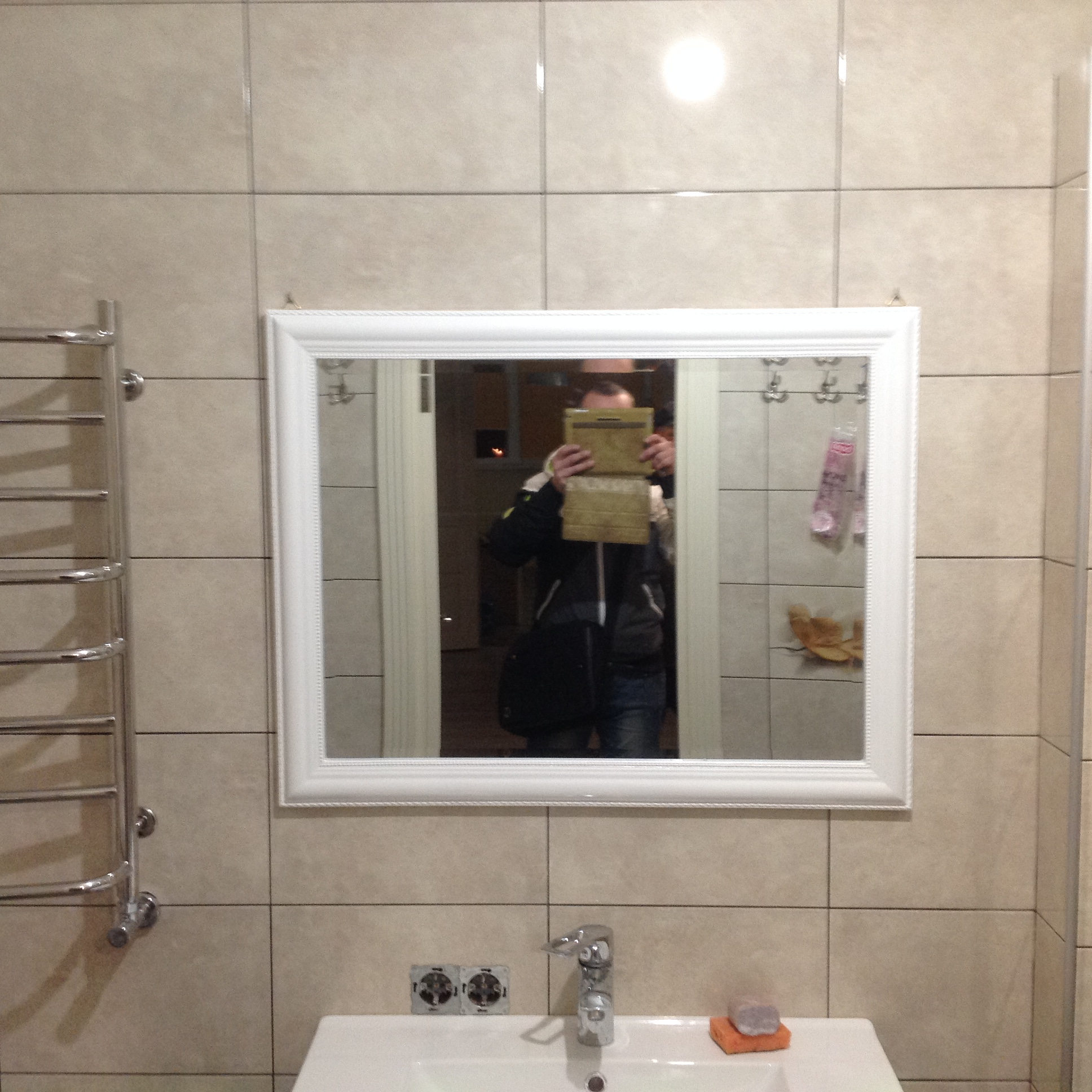 Фото Установка зеркала