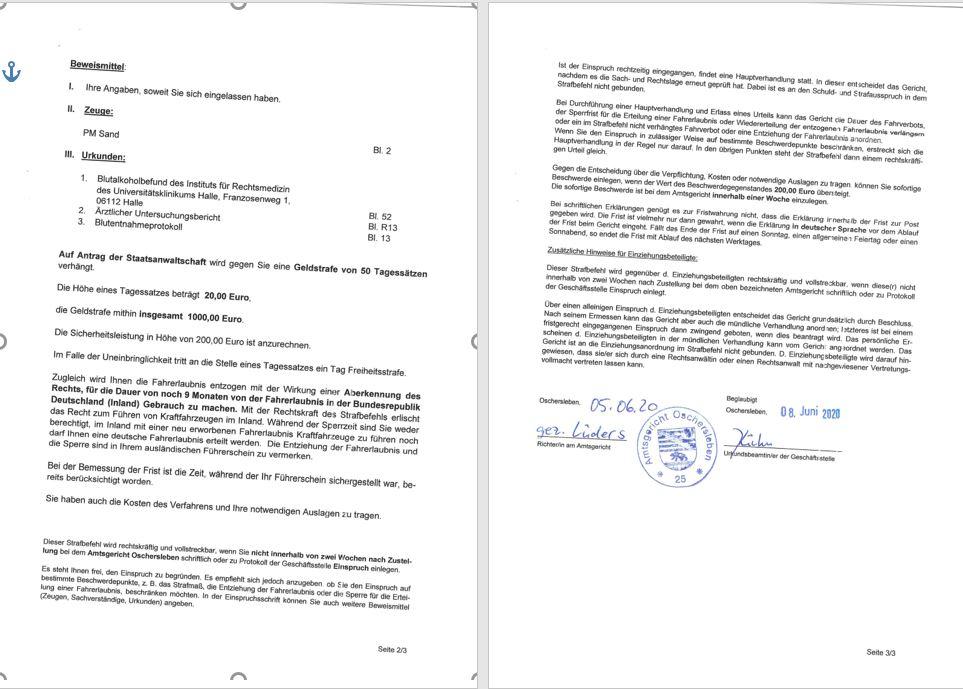 Фото Перевод с немецкого на украинский юридического документа. Средняя скорость 10 стр. в день. (скрин оригинала)