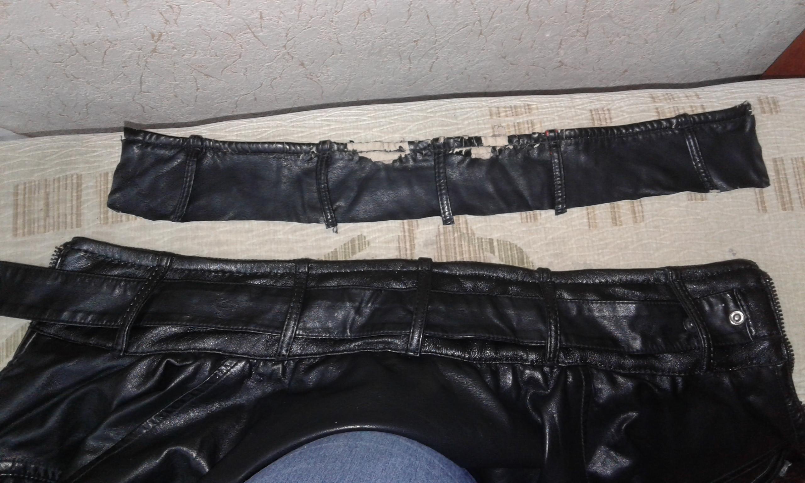 Фото Замена воротника куртки из кожи. Работа заняла один день