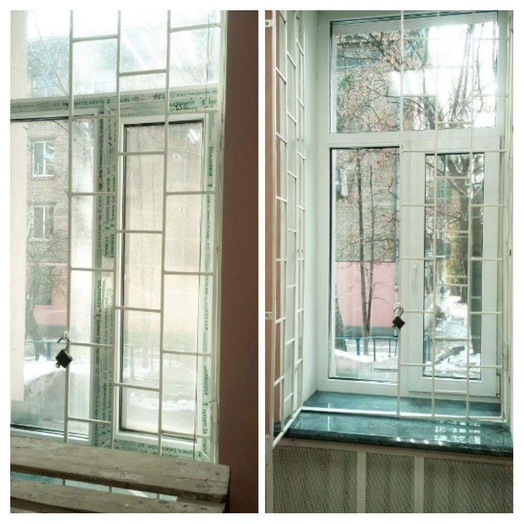 Фото Окно до и после
