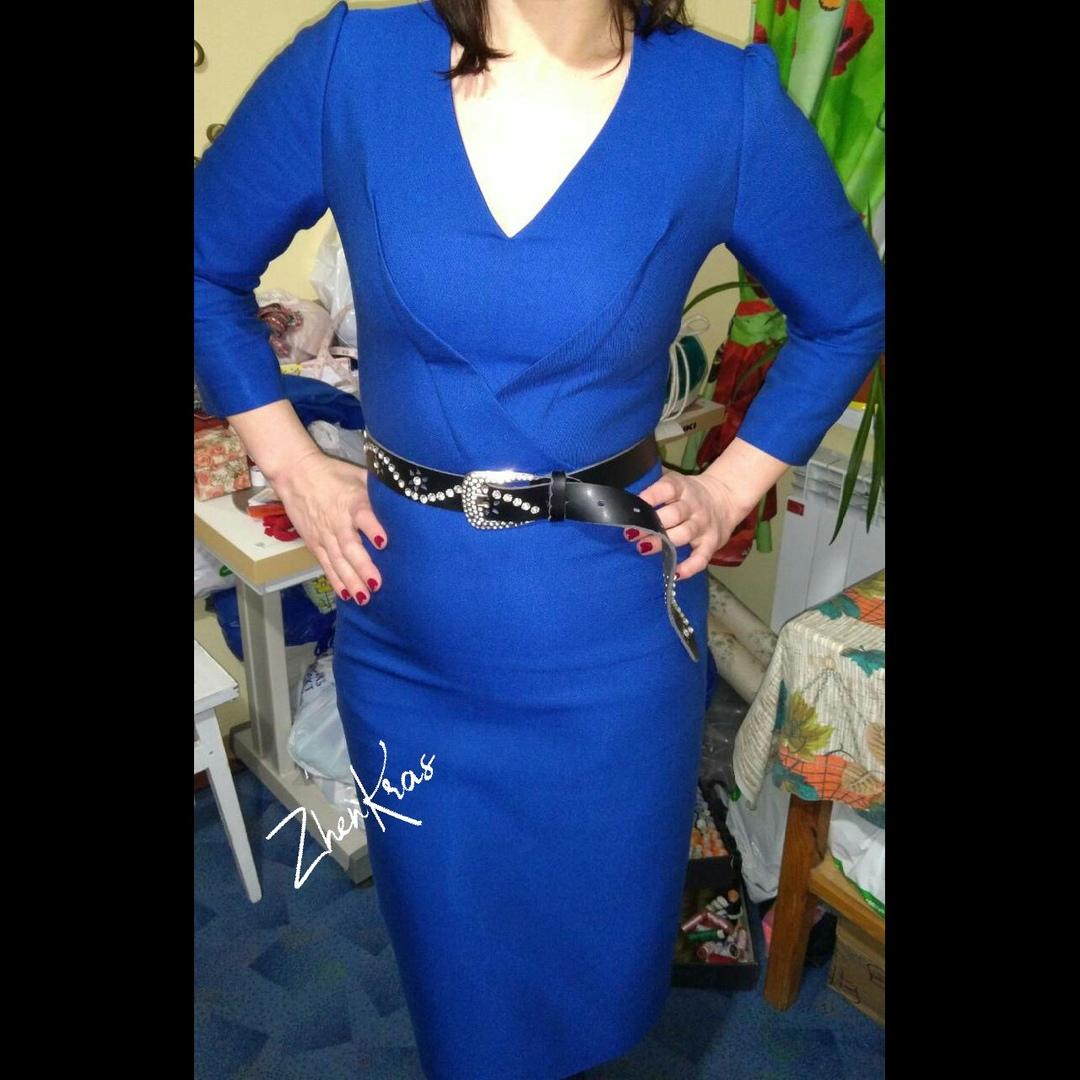 Фото Пошила оригинальное платье по моему дизайну для постоянной клиентки! Ткань 100% вискоза. Не тянется.
