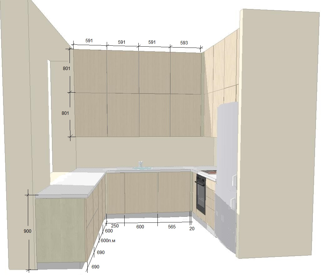 Фото Проект кухни в доме. Хороший дизайн - это как можно меньше дизайна, но деталей и нюансов очень много.