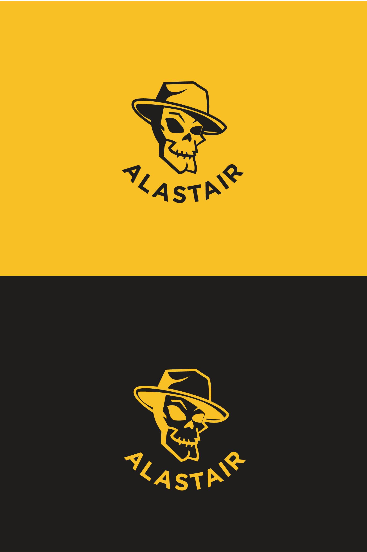 Фото Разработка дизайна логотипа для интернет-магазина рок-атрибутики «Alastair» Вариант 5