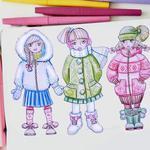 Разработка коллекции одежды, рисунок, эскиз, технический рисунок, описание.