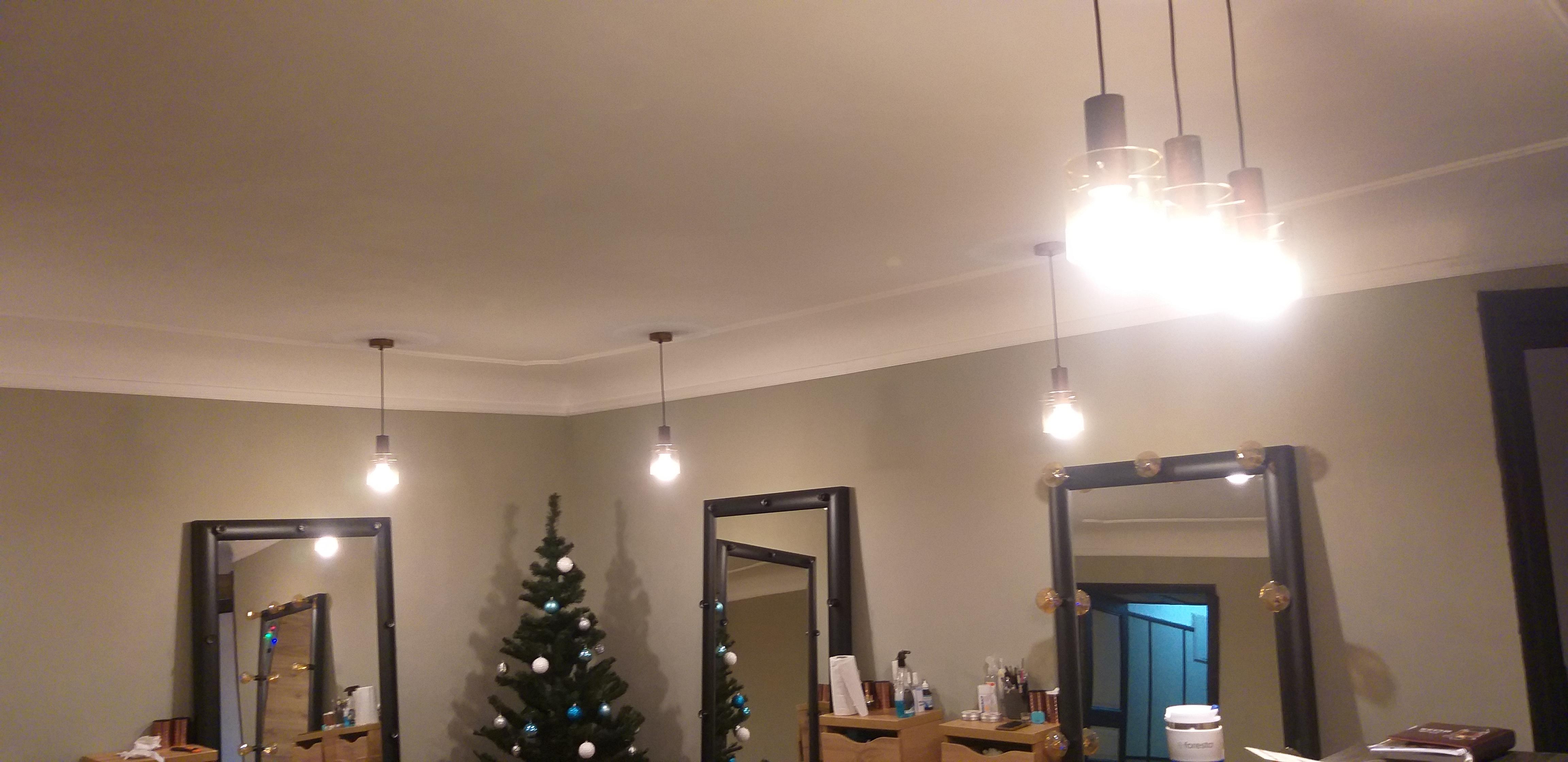 Фото Монтаж 5 светильников 1 час