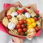 Съедобный букет (фруктовые,овощные, зефирные,конфетные)