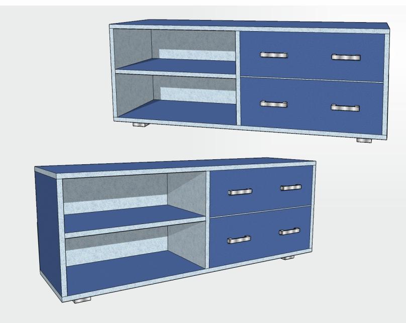 Фото 3D модель мебели.