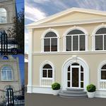 Отделка фасадов архитектурными элементами