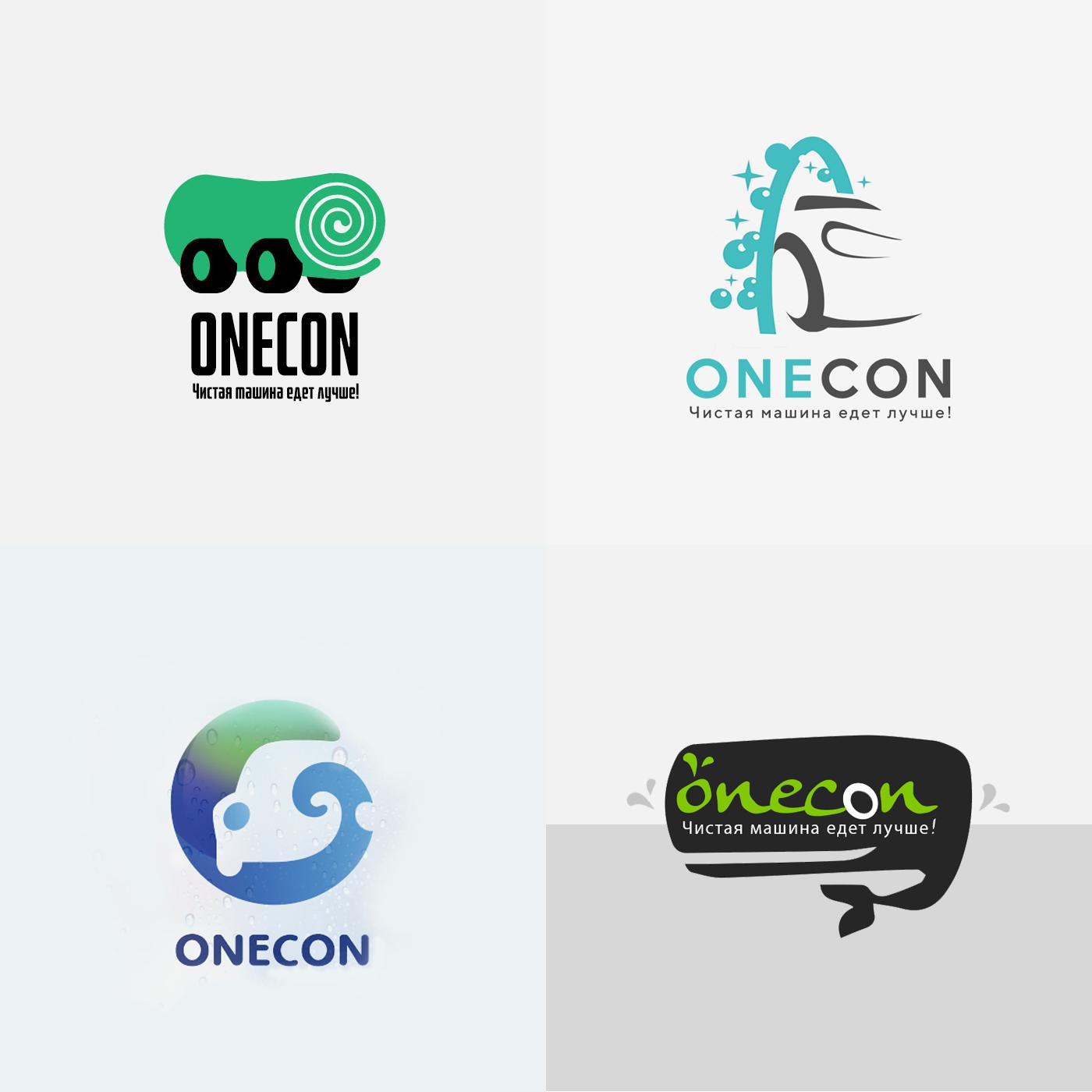 Фото Логотип для сухой автомойки ONECON