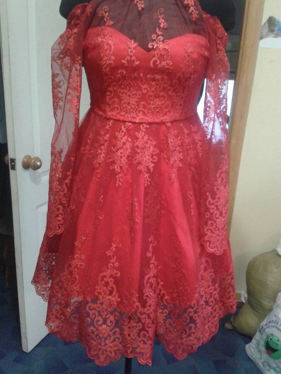 Фото Пошила обалденное платье с цельным корсетом из гипюра. Если нужно,то делаю отдельно вышивку!