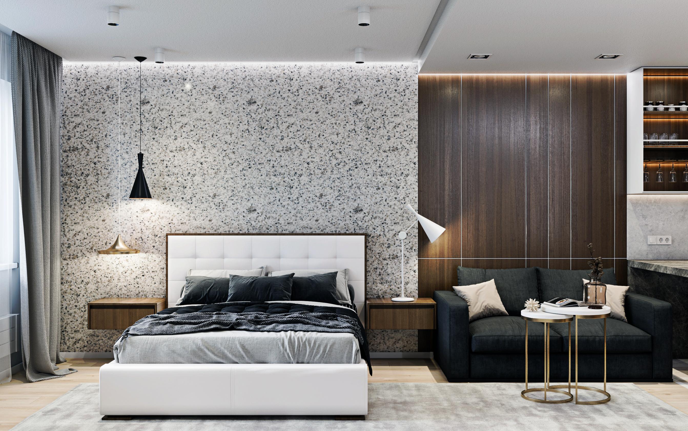 Фото Дизайн апартаментов, вид со стороны ТВ