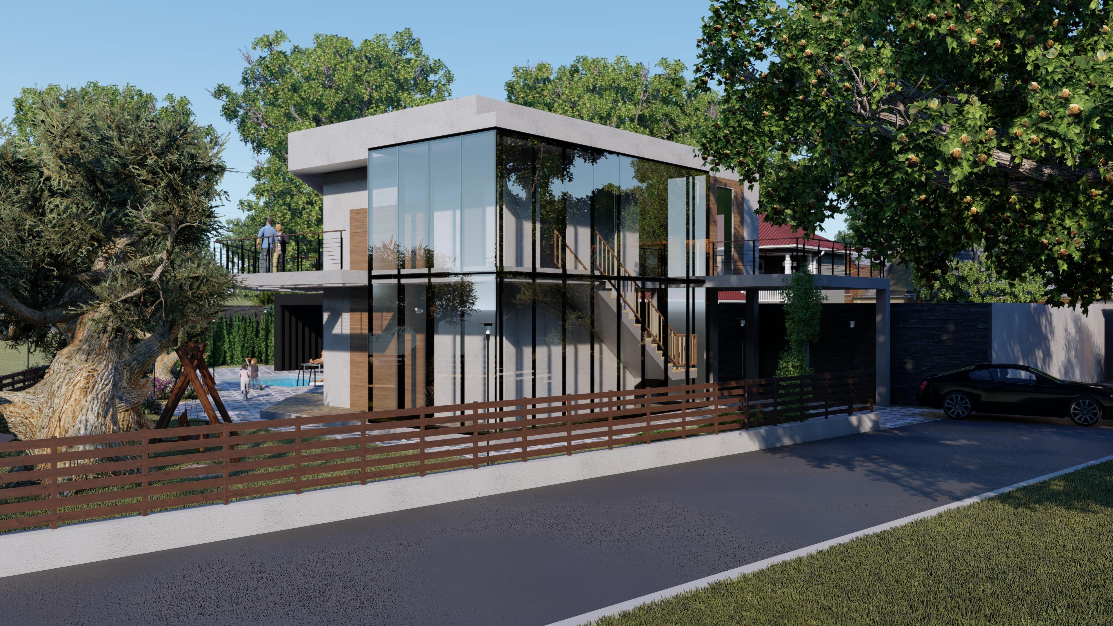 Фото Дом на берегу моря для двух семей Предпроектное предложение  было затрачено 5 дней с учетом рендеринга