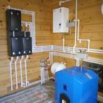 Монтаж твердотопливного и газового котла