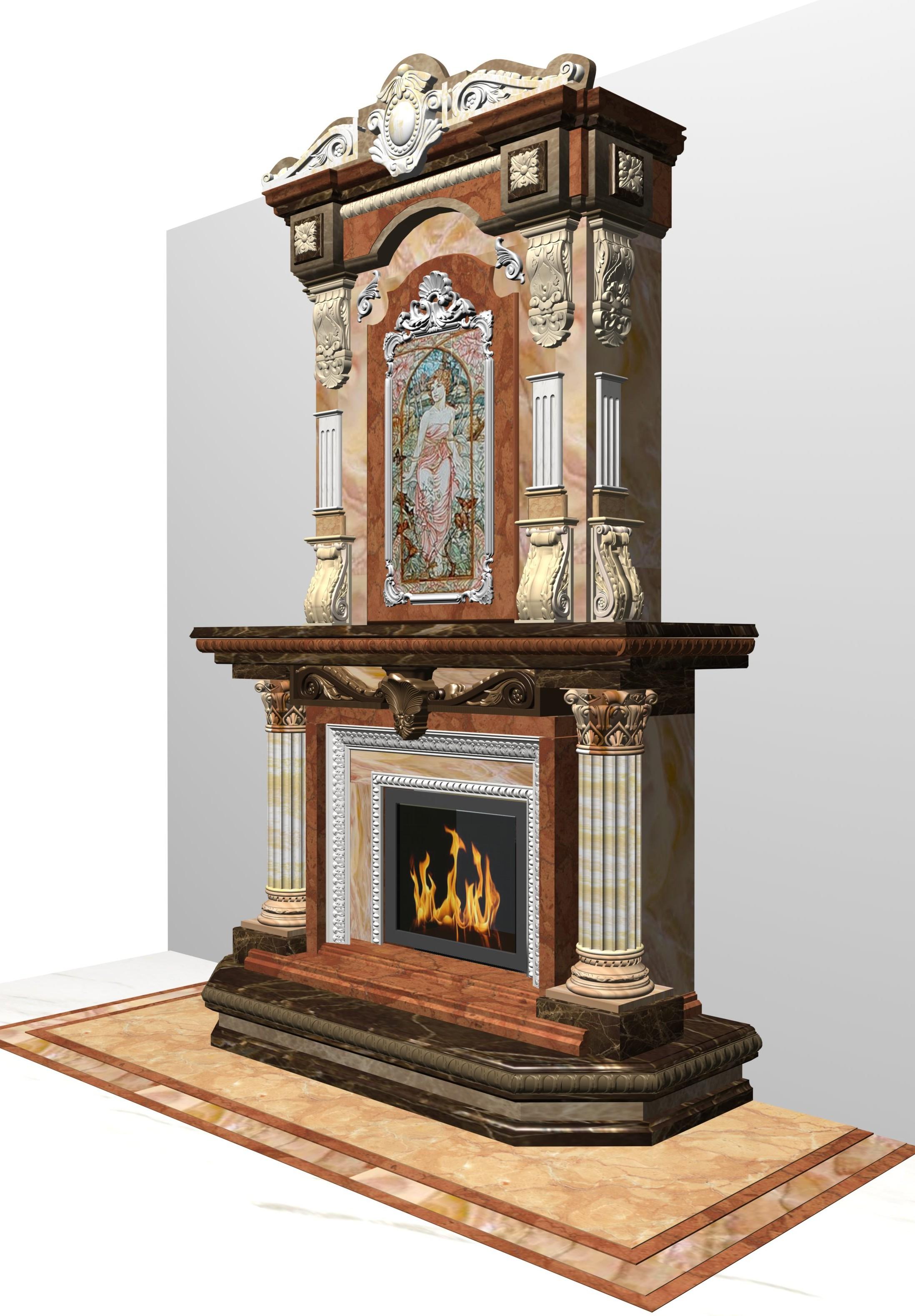 Фото Визуализация проекта камина