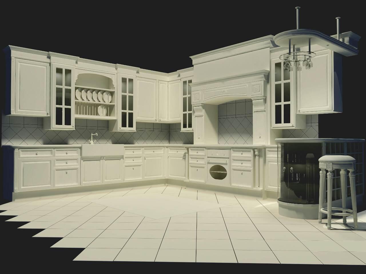 Фото Работа над дизайном кухни.