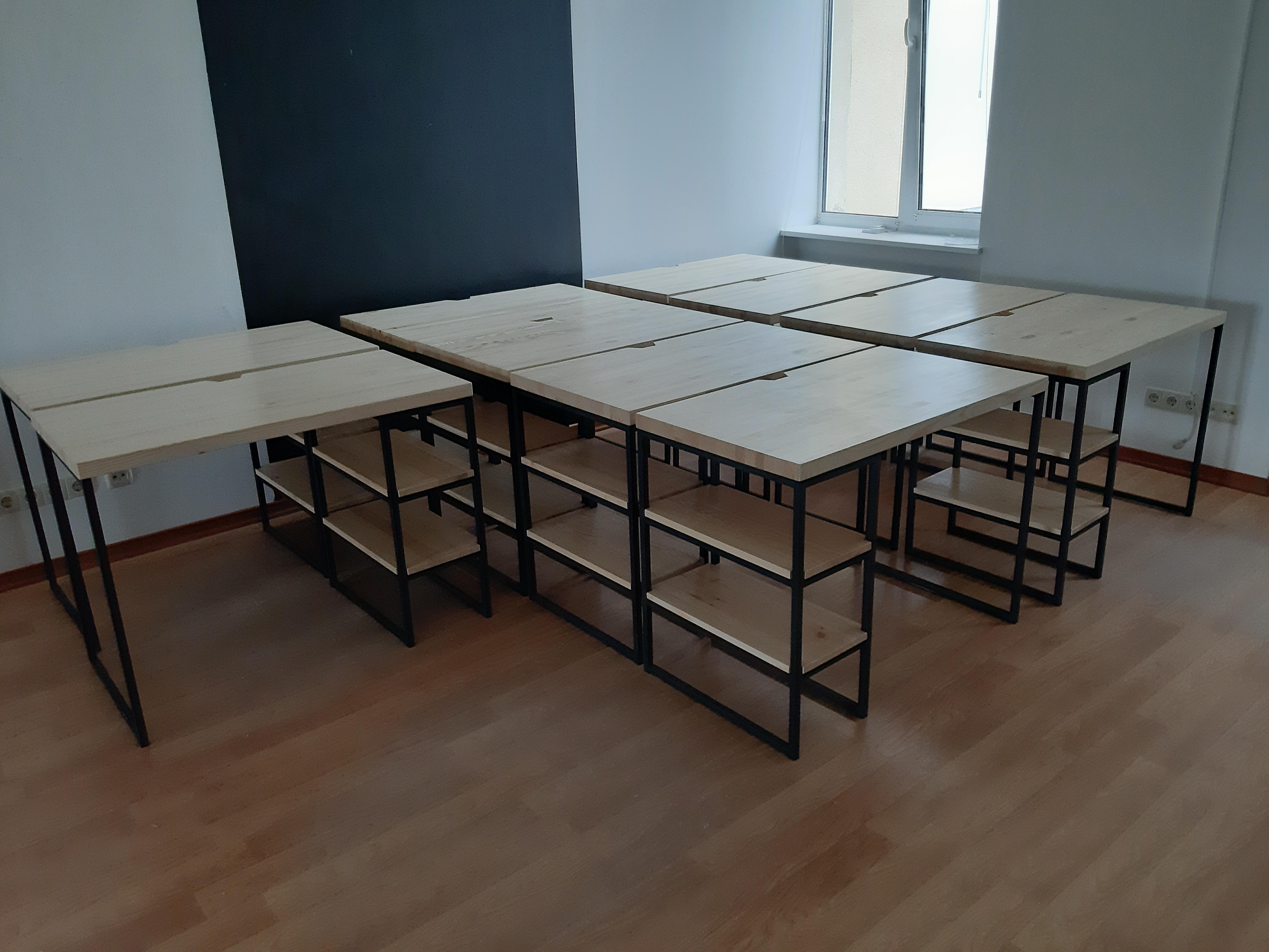 Фото Сборка 10 столов для офиса