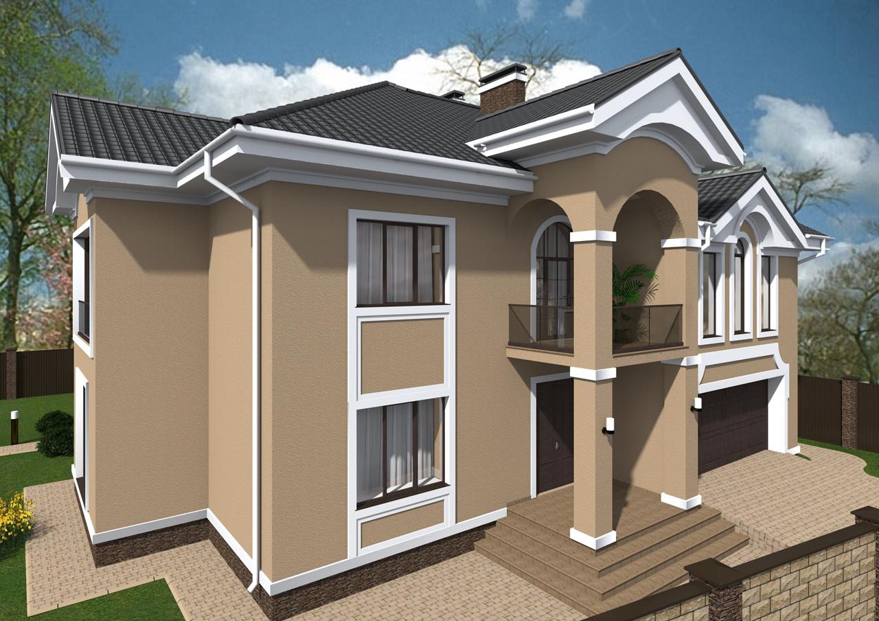 Фото Дизайн фасада дома 70 грн./м.кв (дизайн-проект экстерьера). 3