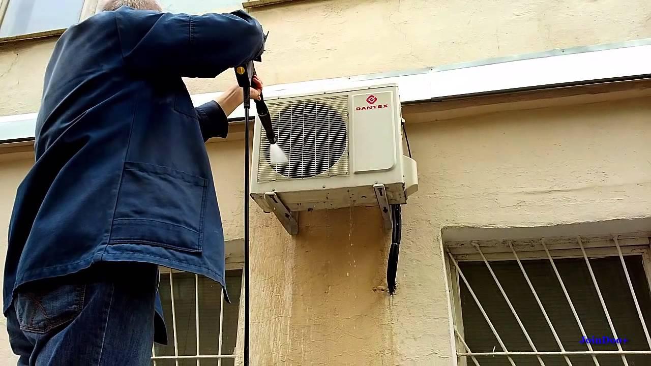 Фото Чистка вентилятора внешнего блока кондиционера