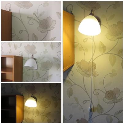 Фото Повесил бра на стену, сделал выключатель, провода/питание уже проложены в стене предварительно и просто торчали из стены.