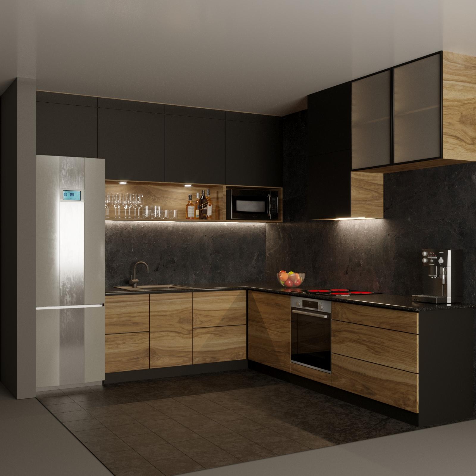 Фото Визуализация кухни по рисунку заказчика