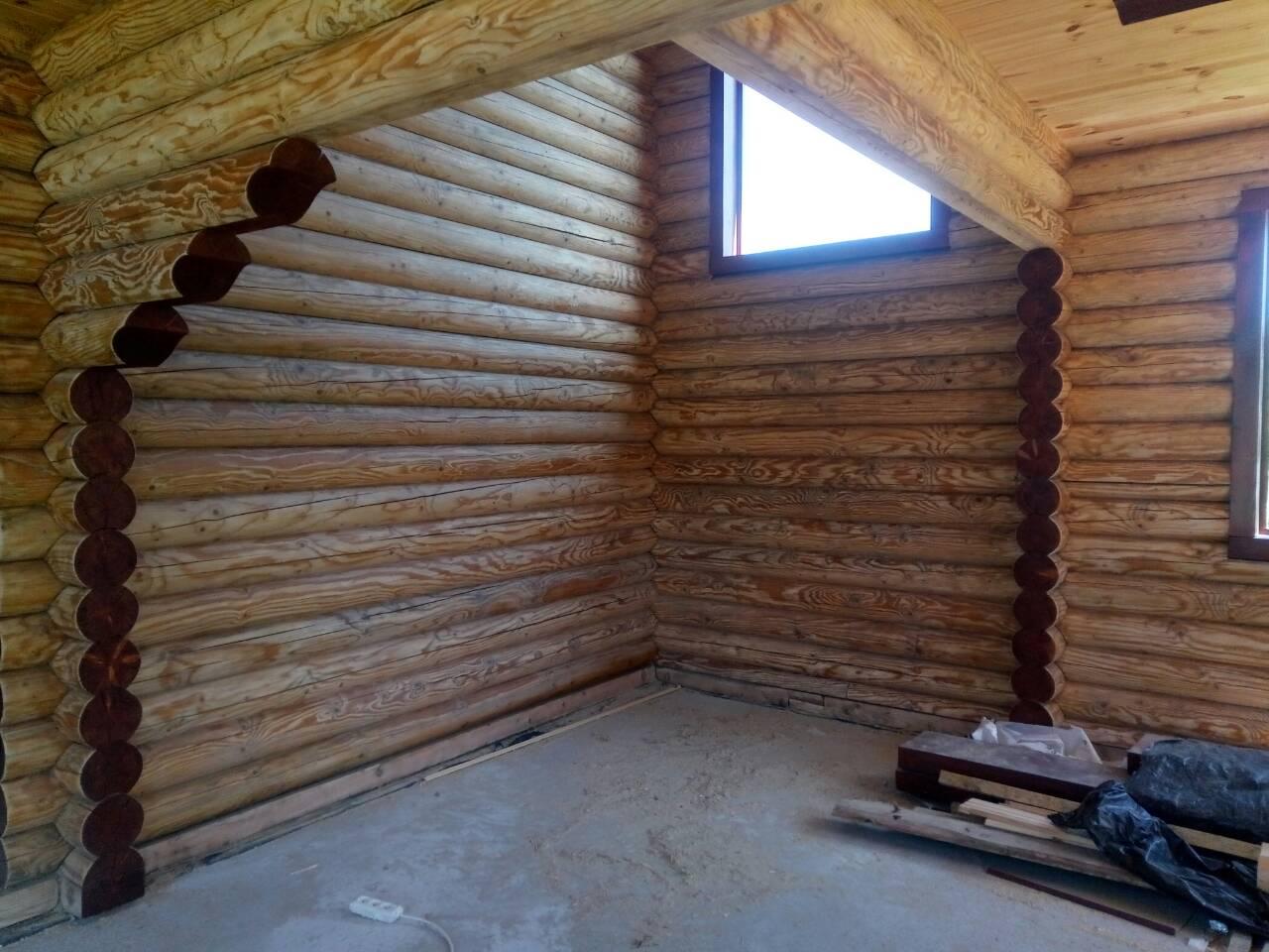 Фото  Шлифовка, перешлифовка деревянных домов, срубов. 2