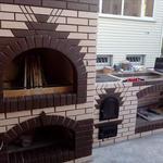 Строительство печей каминов барбекю