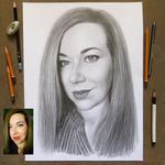 Портрет по фотографии на заказ карандашом (чёрно-белый) или пастелью (цветной)