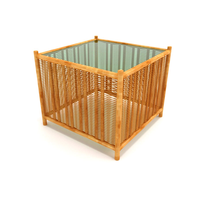Фото Моделинг бамбуково-стеклянного столика в 3D Max.