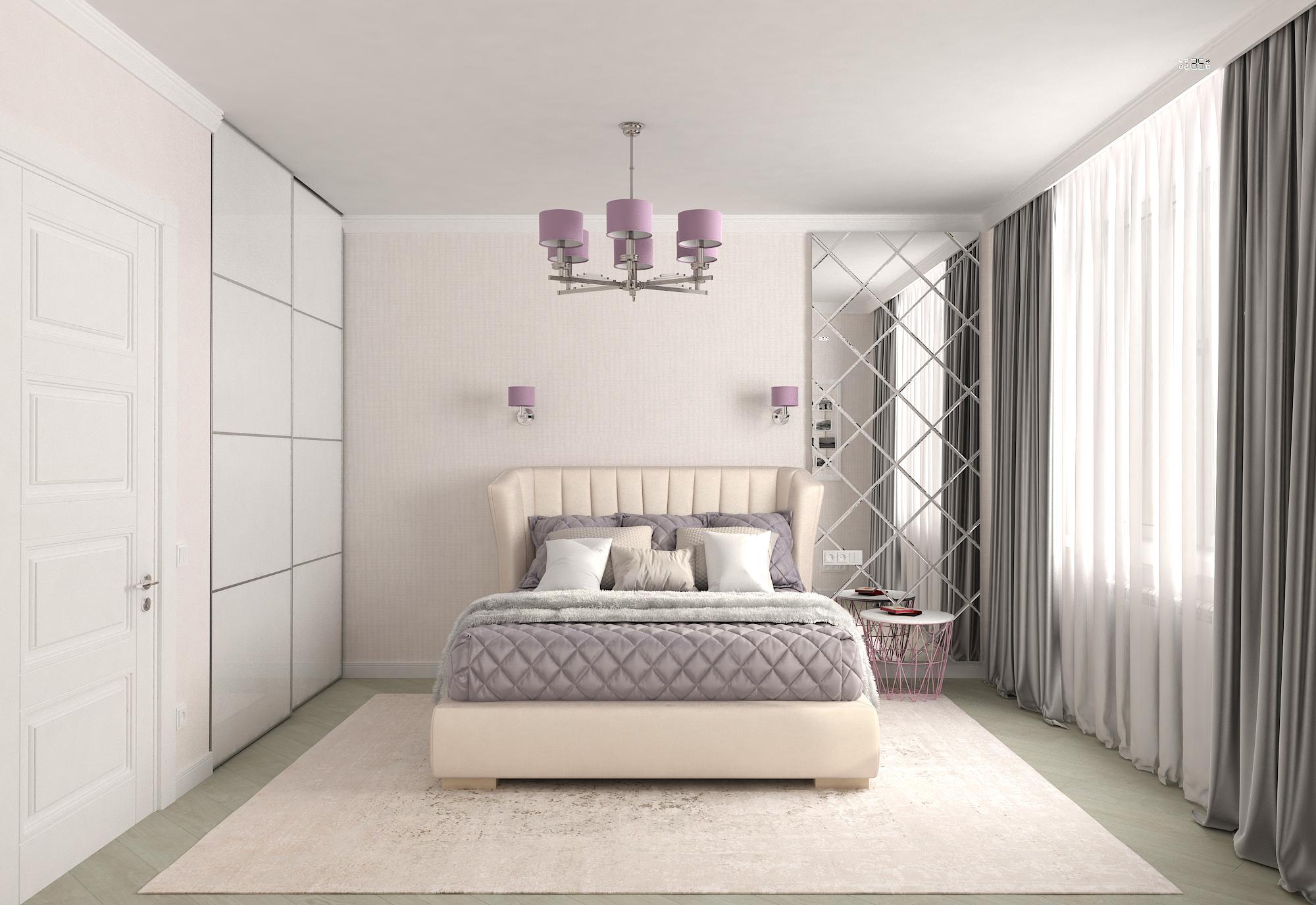 Фото Спальня для девушки в современном стиле