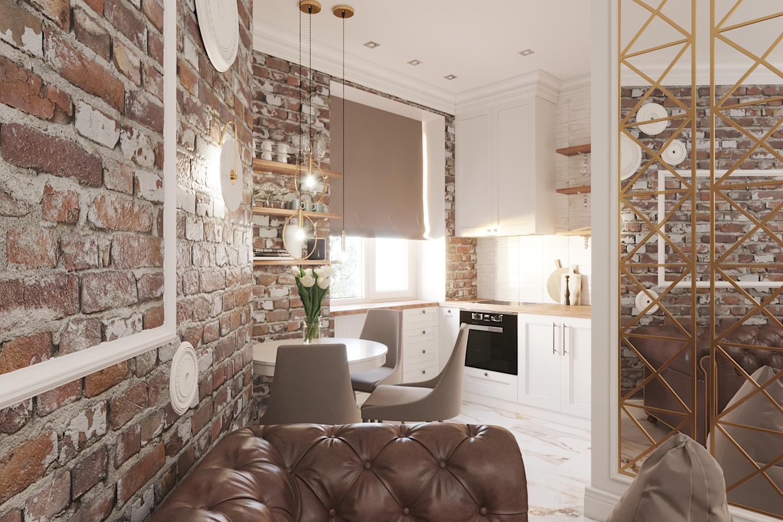 Фото Дизайн кухни-гостиной в скандинавском стиле